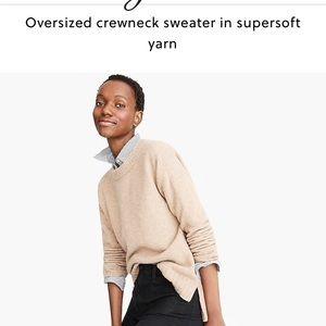 J. Crew Sweaters - J. Crew oversized crew neck sweater